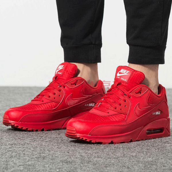 New NIKE Air Max 90 Mens Sneaker triple red white all sizes