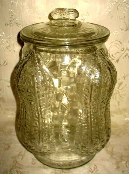 Rare OLD Authentic Planters Peanut Jar measuring 14
