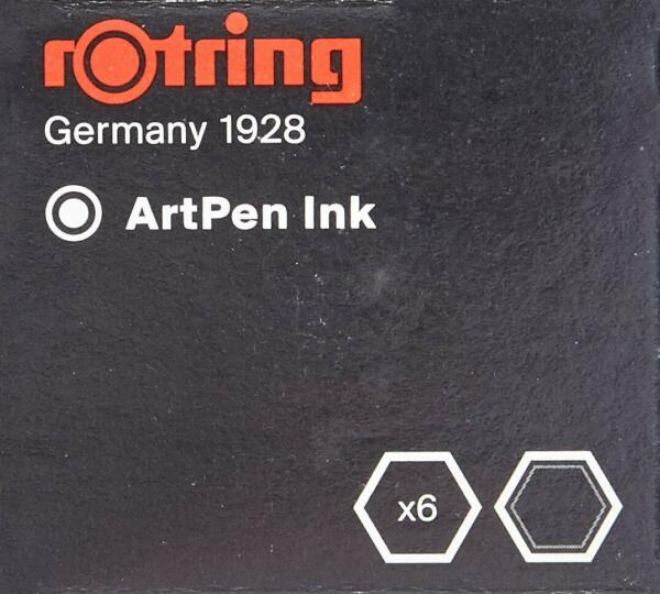 rOtring Fountain Pen ArtPen Replacement Ink Cartridges 2 x 6 packs S0194751