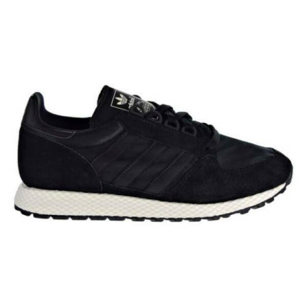 Adidas Forest Grove Men's Size 9  Retro Running Shoes Suede Core Black  B37960