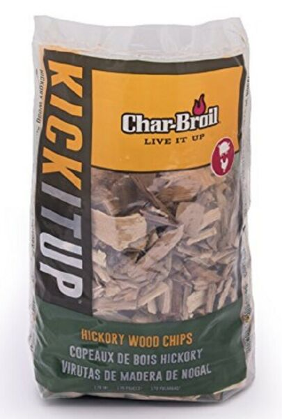 Char-Broil  HICKORY Wood Chips  2 LB  (179 cu. In.) - Made In USA - Ships FREE