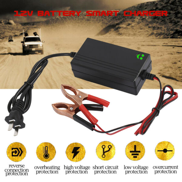 Car Battery Charger 12V Portable Auto Trickle Maintainer Boat Motorcycle ATV