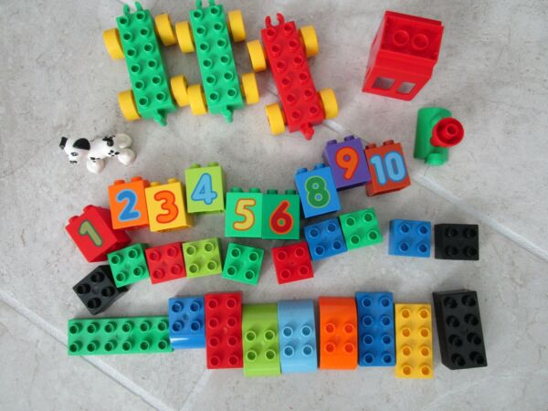 Duplo Lot of 34 Vehicles Dog Numbers Missing #7 $15.00