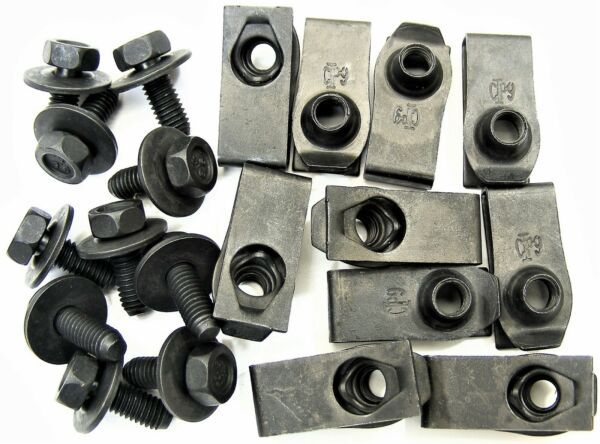 Mopar Body Bolts & U-nut Clips- M6-1.0mm x 16mm Long- 10mm Hex- 20 pcs- #378