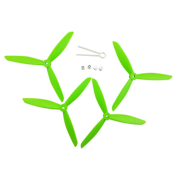 4pcs RC Drone Spare Parts Three Blade Propeller Prop for MJX B3H BUGS Green
