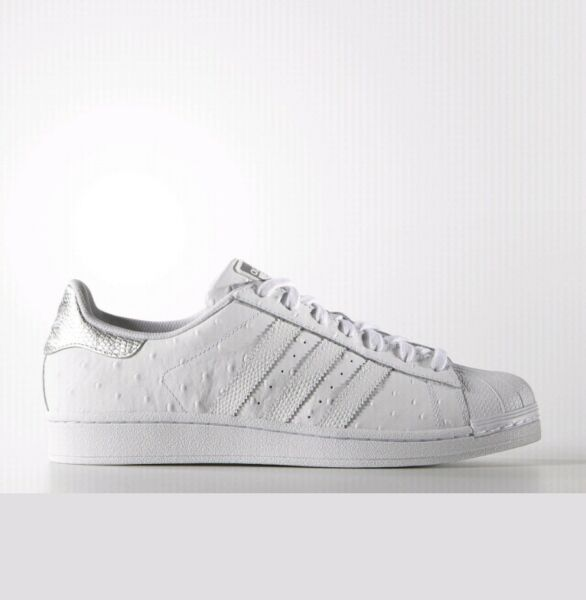 adidas Superstar Shoes Men's 12 silver white