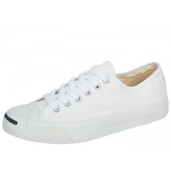 Converse Unisex Jack Purcell Classic Low Top Men Women Canvas Shoe 1Q698 White