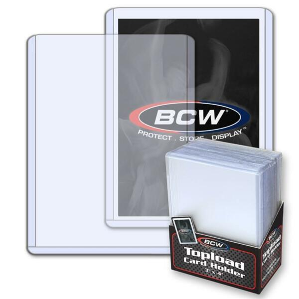 Pack 25 BCW Hard Plastic Baseball Trading Card Topload Holders 12 mil protector