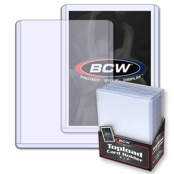 Pack 25 BCW Hard Plastic Baseball Trading Card Topload Holders 12 mil protector $15.99