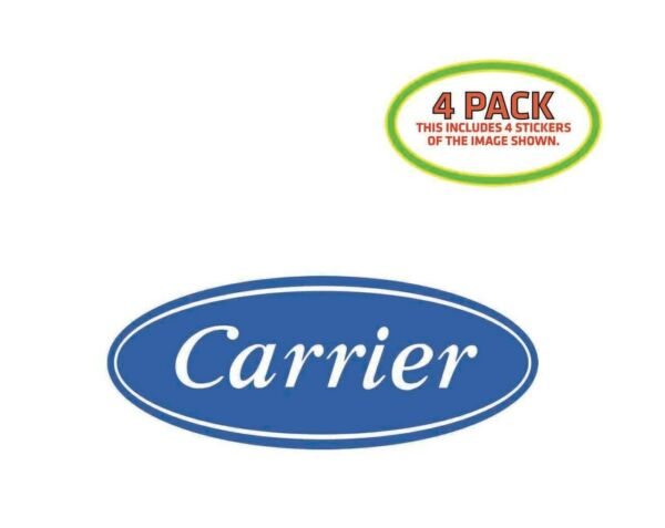 Carrier Heat AC Sticker Vinyl Decal 4 Pack $8.99