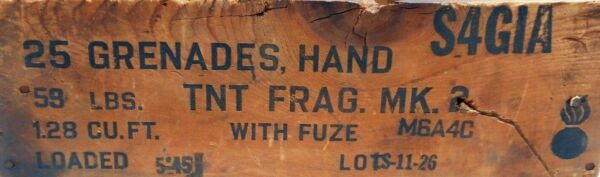 WWII Hand Grenade Wooden CrateBox Plans & Kit