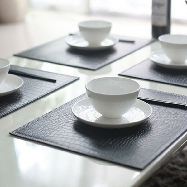 Place Mats For Dining Table Kitchen Ware Coasters Elegant Tableware Pad Non-slip