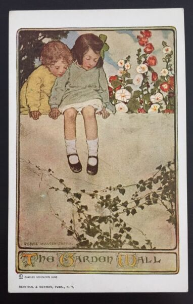 Jessie Willcox Smith Postcard Artist Signed Series 100 The Garden Wall