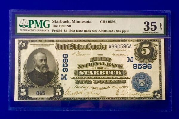 For the ULTIMATE COFFEE FAN !  REAL STARBUCK   $5 BANKNOTE  Starbuck MN