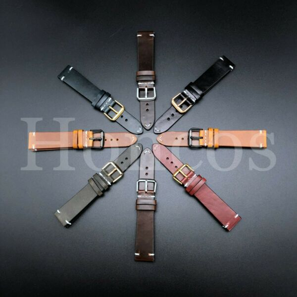 18-24 MM Genuine Soft Leather Watch Band Strap Brown Black Fits for Rolex Tudor
