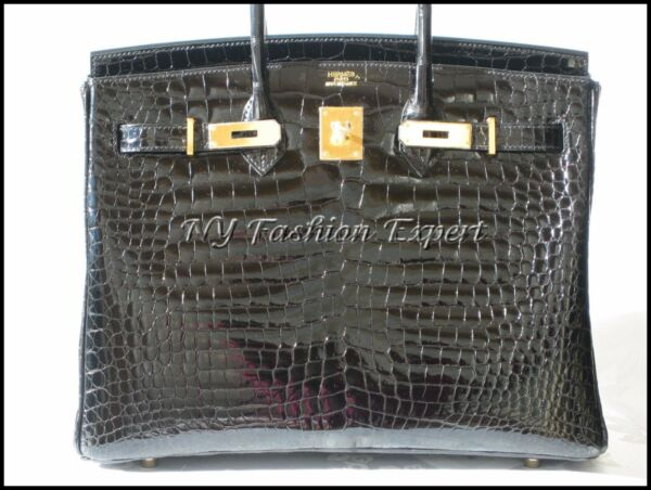 The Ultimate BLACK CROCODILE 35cm Hermes Birkin BagGold