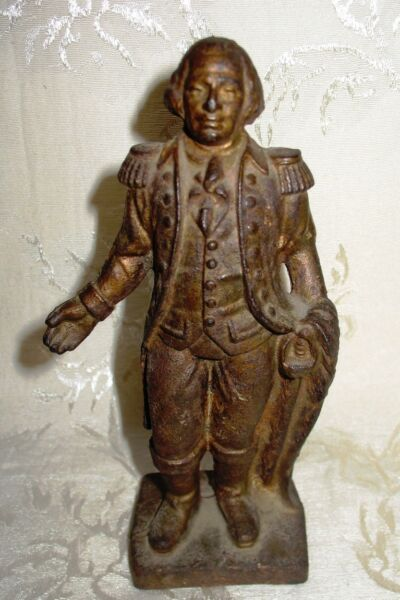 Antique Cast Iron USA Still Bank George Washington 6.5