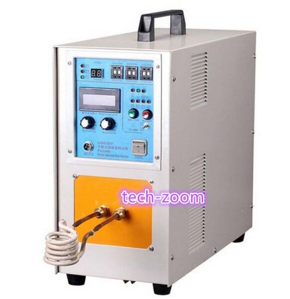 15KW 30-80KHz High Frequency Induction Heater Furnace LH-15A 110220V GOOD D