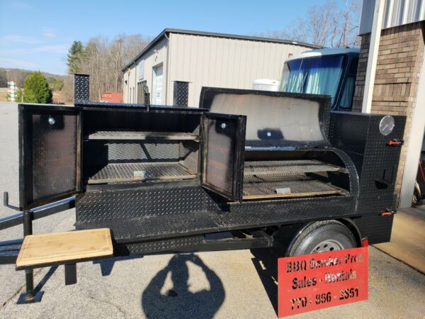 Pitmaster BBQ Smoker Catering Business 30 Grill Wedding Mobile Food Cart Truck