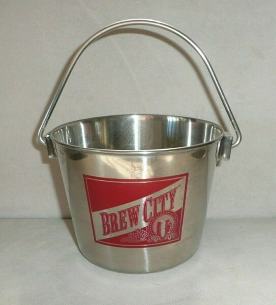 Brew City Beer Metal Party Bucket Pail with Handle 4