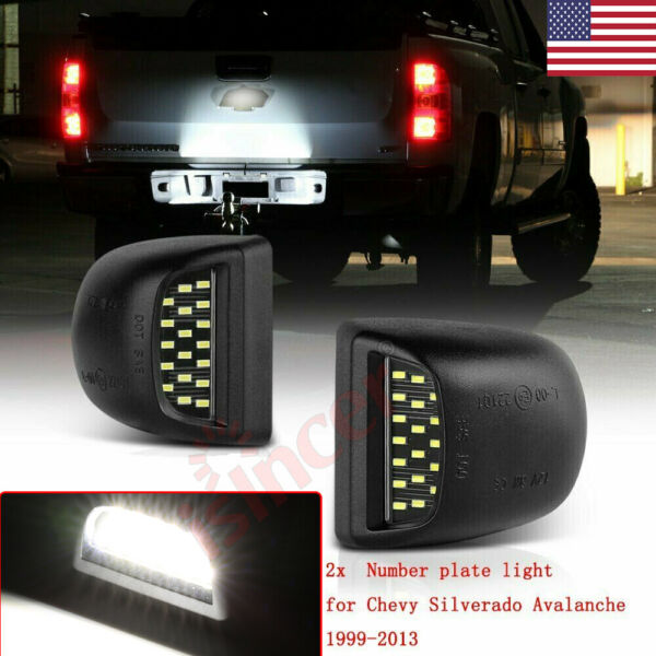 FOR CHEVY SILVERADO AVALANCHE 1999-2013 BRIGHT SMD LED LICENSE PLATE LIGHTS LAMP