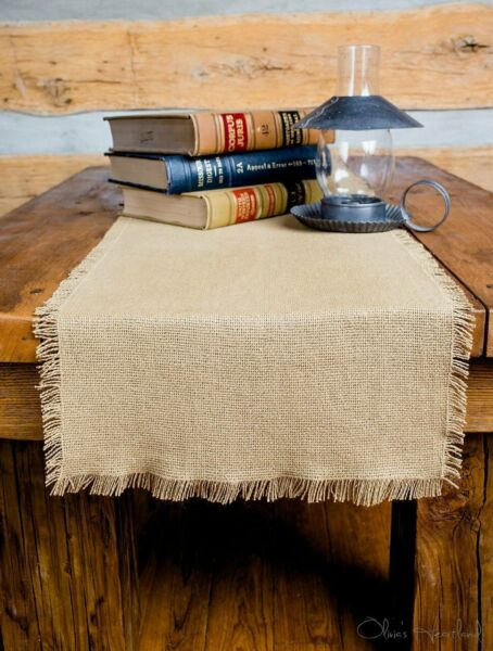 Deluxe Burlap Natural Tan Runner 13x48quot;