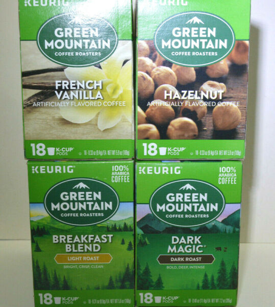 18 KEURIG Flavored Coffees K CUP Pods Collection. Various flavors available.
