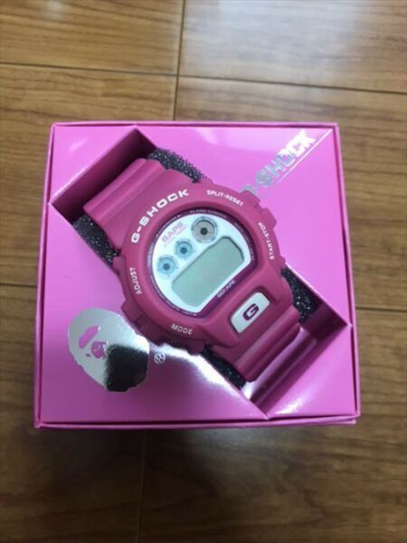 CASIO G SHOCK A BATHING APE 1000 Limited model DW6900 Pink Very Rare New