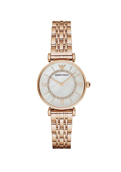 New Emporio Armani Classic Rose Gold Mother of Pearl Dial Women's Watch AR1909