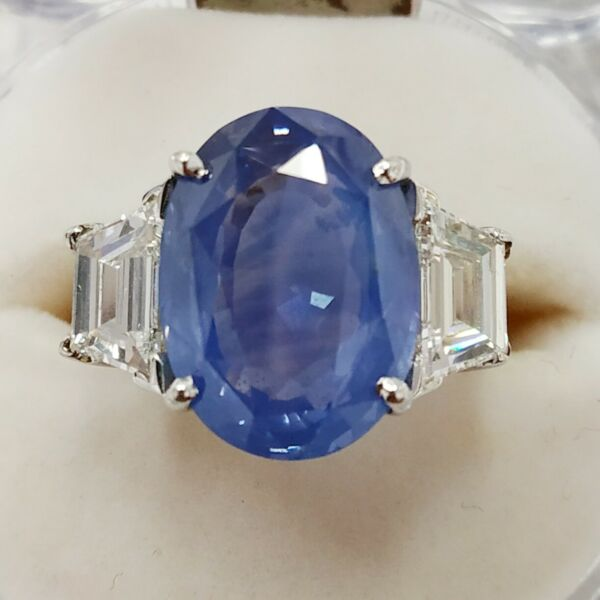 Kashmir Blue Sapphire 12.31 cts Natural Gubelin Certified Loose Gemstone