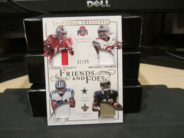 National Treasures Friends and Foes Ezekiel Elliott Michael Thomas 2125  2016