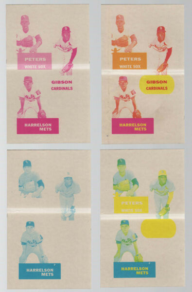 1968 Topps Action All Star Stickers Progressive Proof Cardinals Bob Gibson 1of1