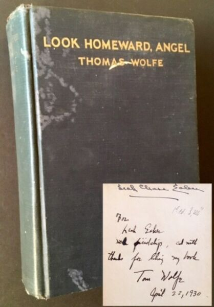 Thomas Wolfe  Look Homeward Angel Signed 1st Edition 1929