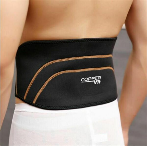 Copper Back Pro Back Brace Compression Lower Support Fitness Belt SM LXL USA
