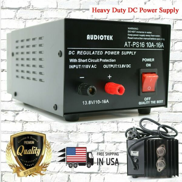 AT-PS16 13.8V 16A  amp Heavy Duty DC Regulated Power Supply Grade with Cable New
