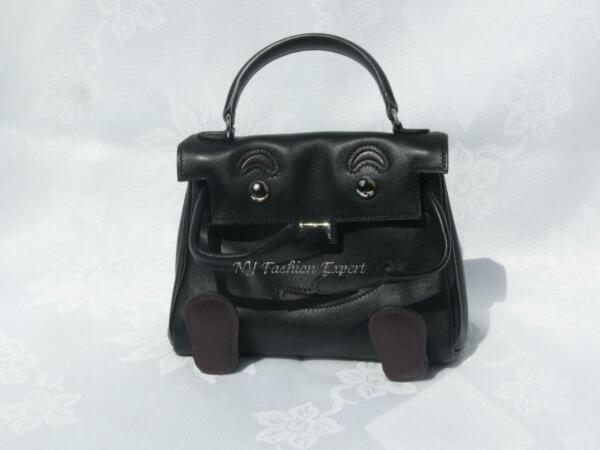 Pre-Owned BLACK QUELLE IDOLE KELLY DOLL Hermes Bag