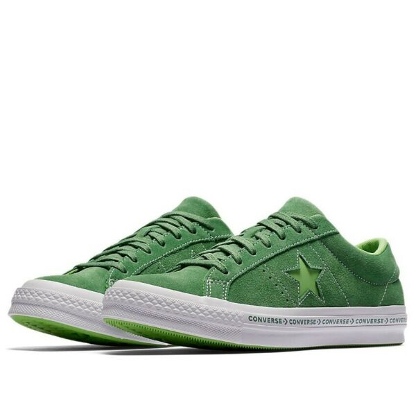 Converse One Star Pinstripe Ox Size 10 Mint Green Lime Suede 159816C
