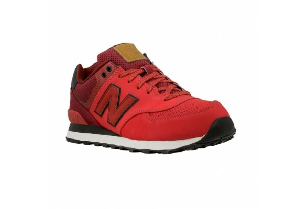 NEW BALANCE MENS ML574GPE RUNNING SHOES RED