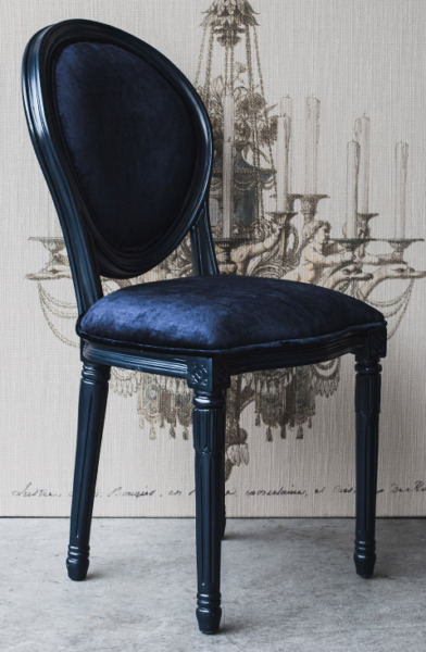Bonaparte Navy Blue Chair. Polart. Handmaid in Mexico.Wood amp; Velvet. $524.00