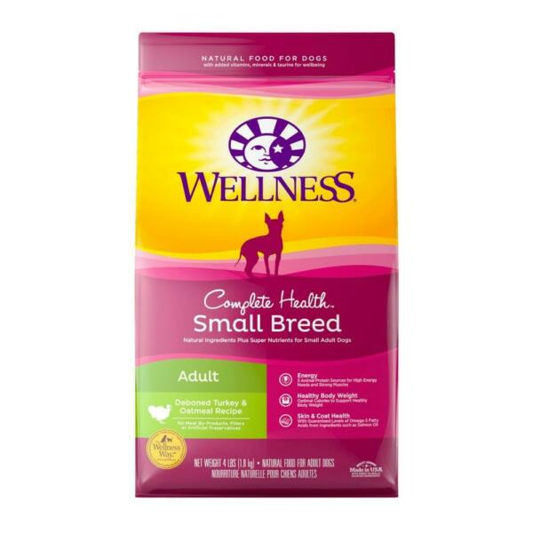 Wellness Complete Health Natural Small Breed Adult Turkey & Oatmeal Dog Food