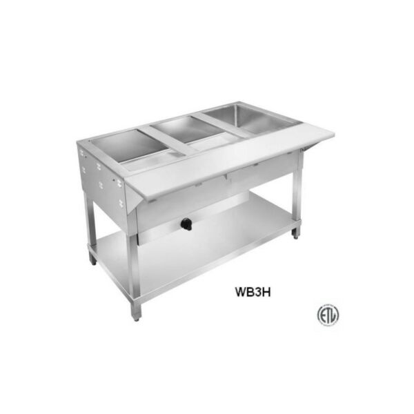 3 Well Commercial Restaurant Dry Gas Steam Table $1100.00
