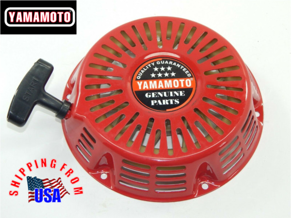 Yamamoto Recoil starter for GX390 engines.  Steel ratchet red.