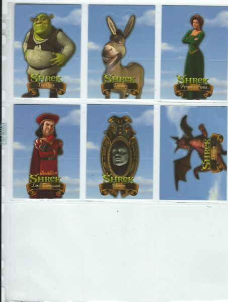 Dart Flipcards Shrek Movie 6 Card Pop-up Card Chase Set In Pro-SELECT Sleeve G+