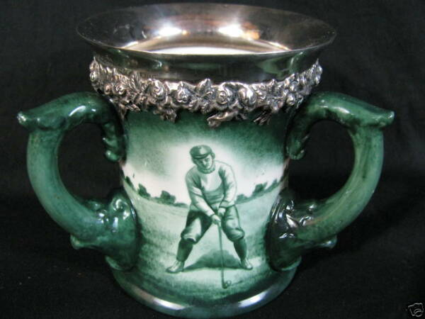 Rare Lenox Golf Triple Handled Sterling Silver Stein