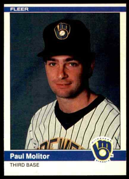 1984 Fleer #207 Paul Molitor UER'83 stats should say.270 BA and 608 AB