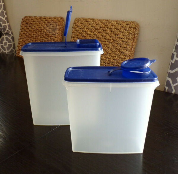 Lot Tupperware Cereal Storer Keeper Modular Storage Containers 20 13 Cup BLUE
