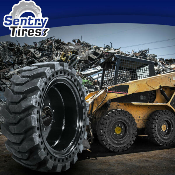 10x16.5 (32x10-20) Sentry Tire Solid Skid Steer Replacement 2 Tires and wheels