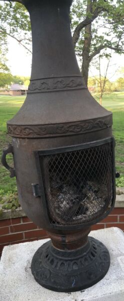 Gas or Wood Burning Venetian Chiminea Outdoor Fireplace by The Blue Rooster