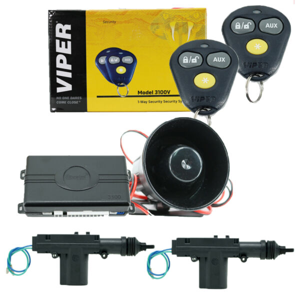 Viper 3100V Keyless Entry Car Alarm System 2 Universal Door Lock Actuators New