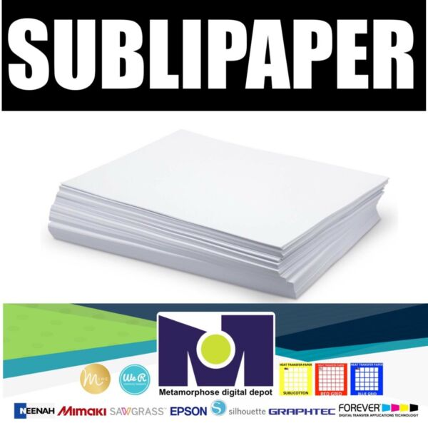 "Dye Sublimation Transfer Paper SUBLIPAPER 100 Sheets 8.5""x11"" FREE DELIVERY"